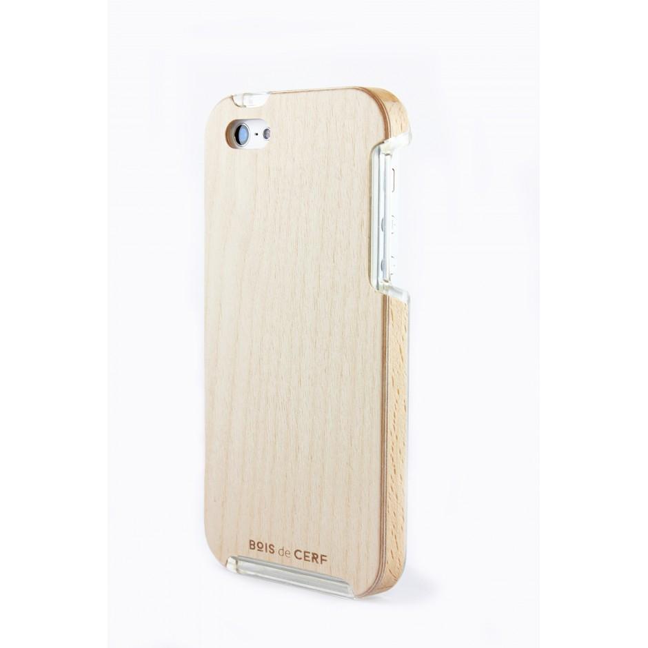 Coque bois iPhone 5S5 bouleauhêtre  Fabriquée en France ~ Coque Bois Iphone