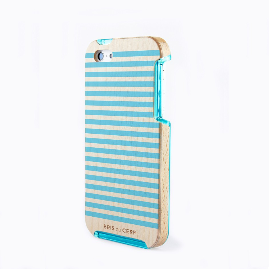 Brâme édition limitée Blue Stripes iPhone 5/5S et iPhone SE