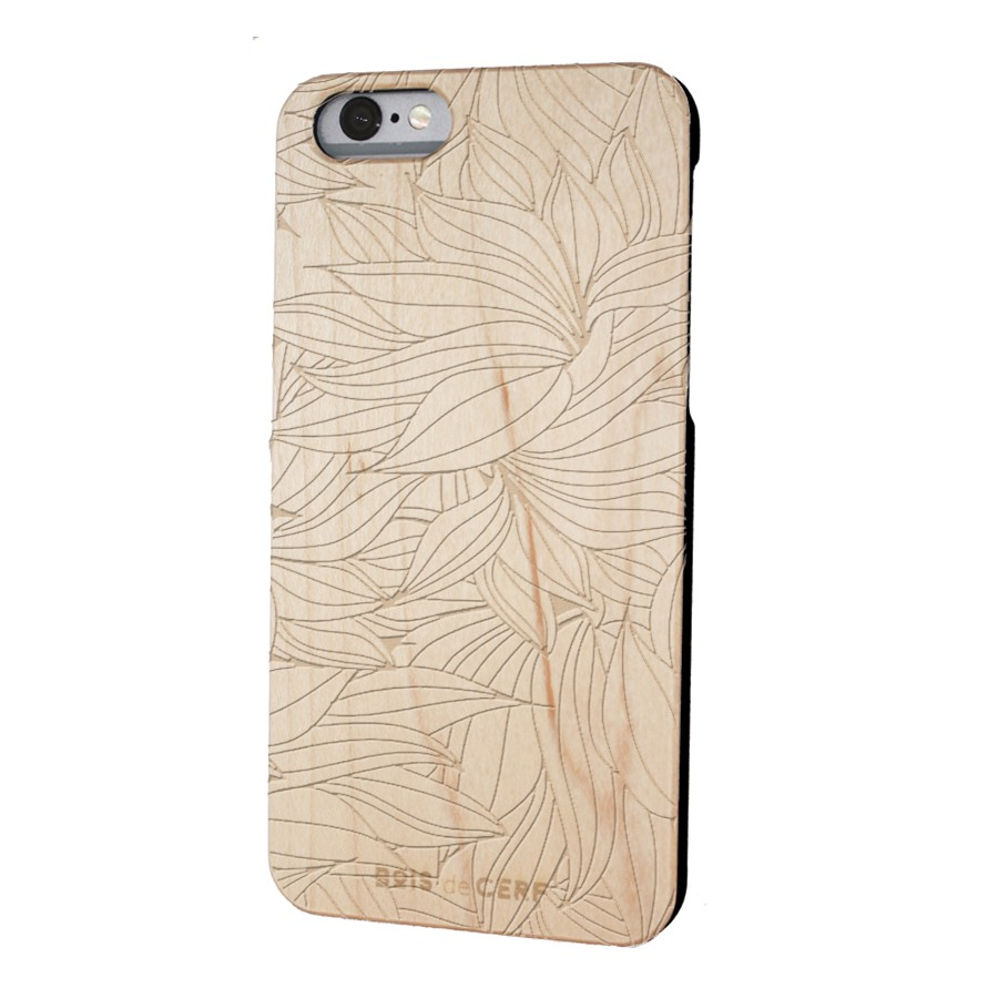 wooden case iPhone 6/6S limited edition floral pattern