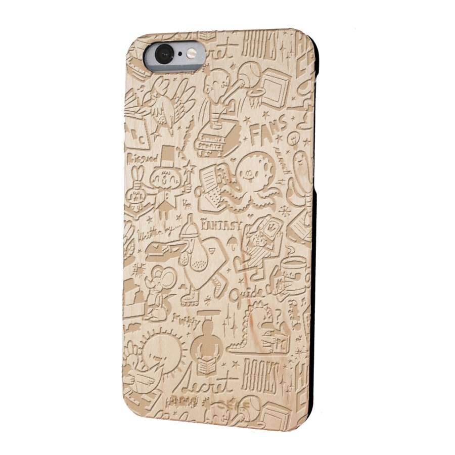wooden case iPhone 6/6S limited edition old school