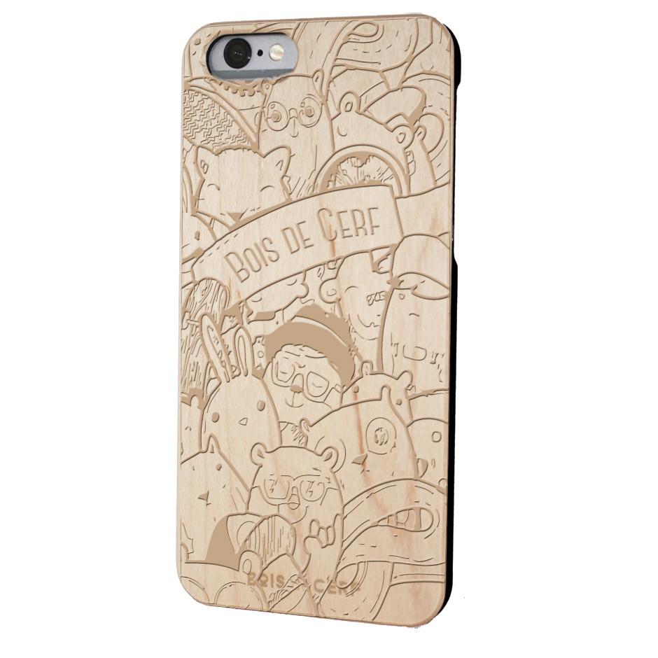 Coque iPhone 6/6S bois Castor édition