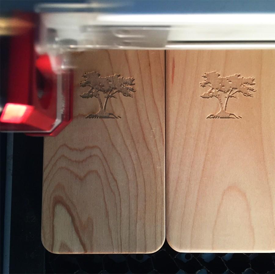 Custom wood iPhone case