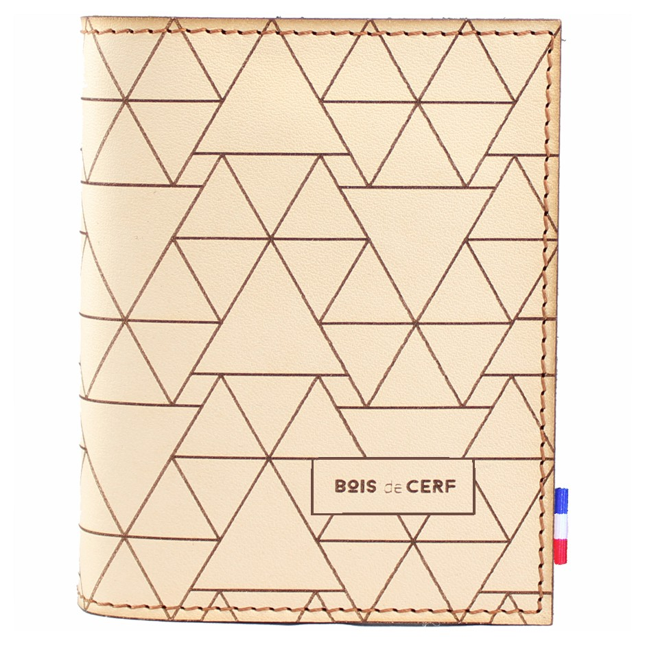 Leather Sleeve Wallet - pyramids
