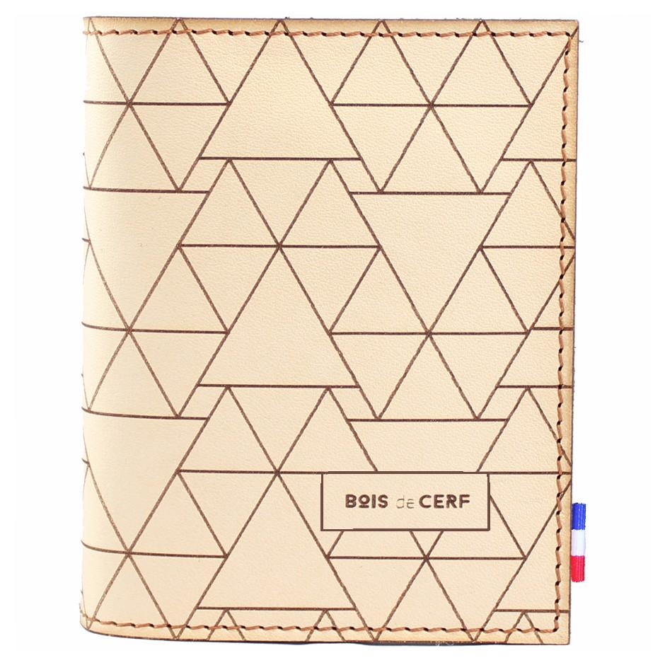 Brieftasche aus Leder - Pyramiden