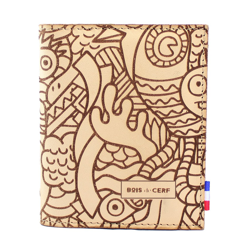 Leather Sleeve Wallet - Caribou