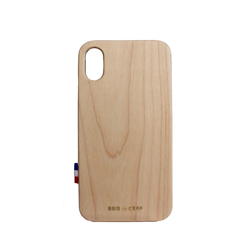 iphone x coque en bois