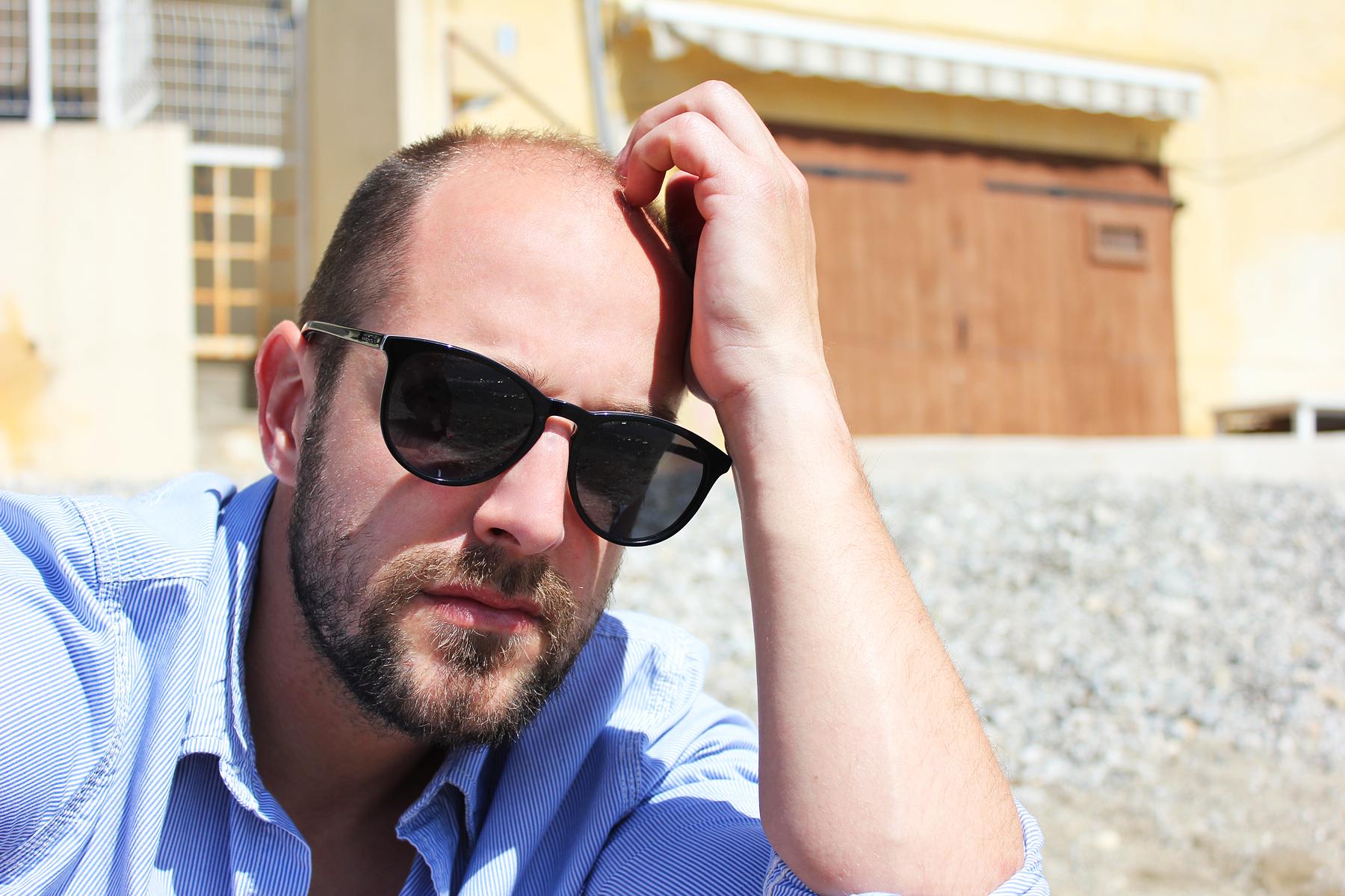 Gafas de sol hombre verano. Lentes negros polarizados