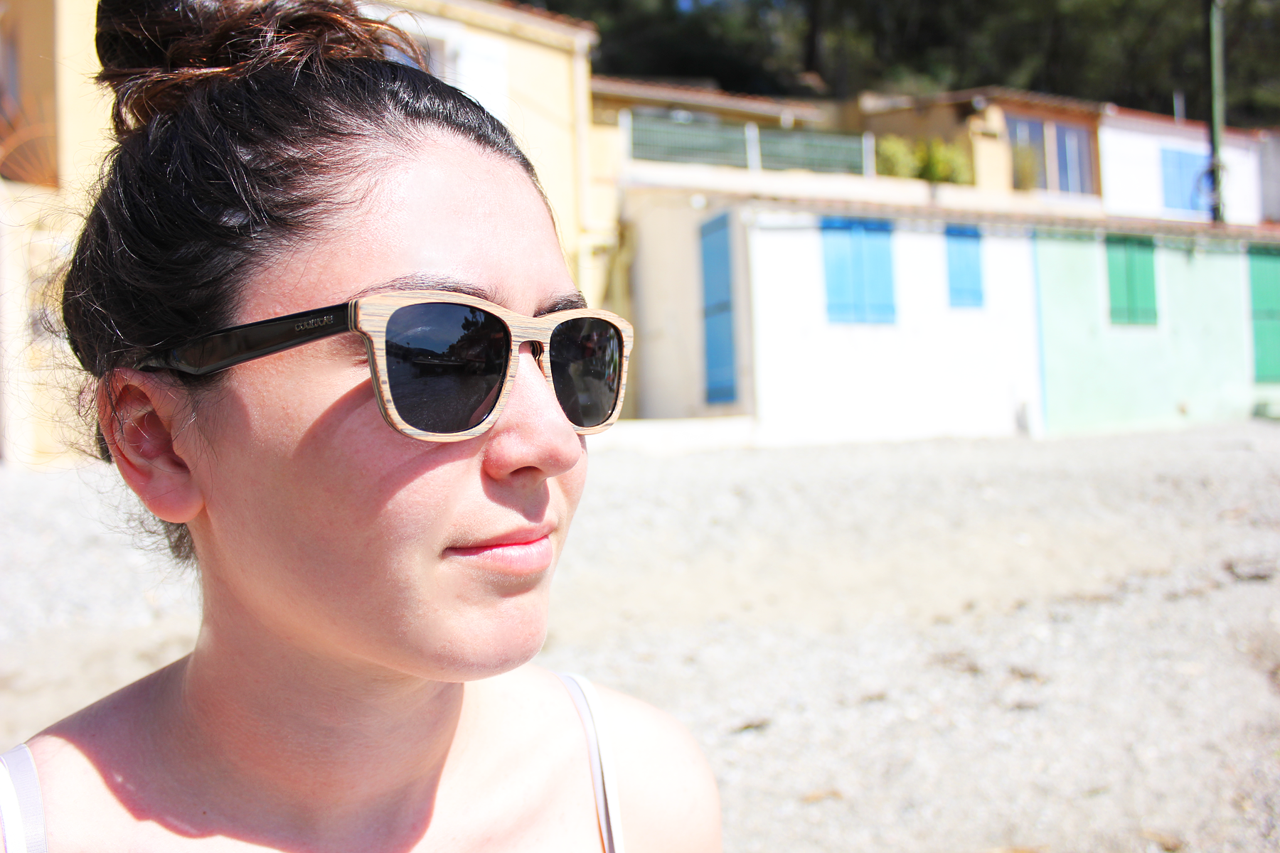 Wooden sunglasses for summer and beach cool design wayfarer